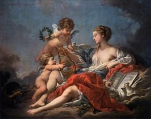 Pittura-a-olio-fran-ois-boucher-allegoria-della-musica-venere-con-angeli-uccelli-tela